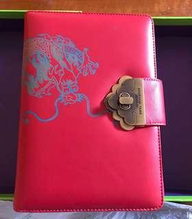 Shanghai Tang leather folder with notebook