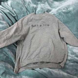 🚚 灰色刷毛長袖衛衣