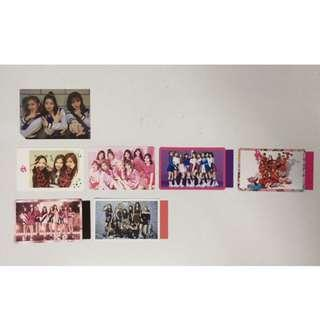 Twice official groupcards, photocards