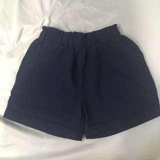 [FREE WITH MIN $5 PURCHASE] Dark Blue Denim Colour Cotton Paperbag Shorts #prelovedwithlove