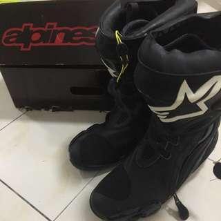 Alpinestar Supertech R (Black) superbike boots size 42