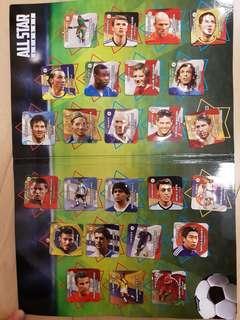 Esso 2014世界盃 紀念 磁石25個連磁石板