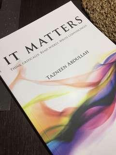 IT MATTERS book