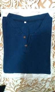 🚚 新品男休閒衫 深藍