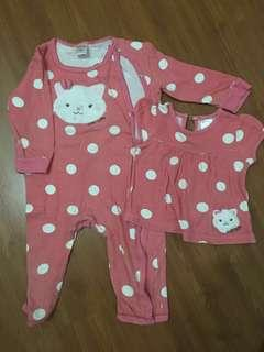 [FREE DELIVERY] Baby sleepsuit & shirt #xmas50