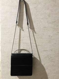 Croco Print Sling Bag