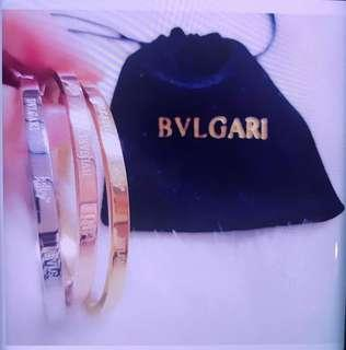Bvlgary Bangle Bracelet 3 pcs tone ( Gold Silver Rose Gold)