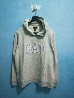 GAP Flower Light Grey Pullover Hoodie L