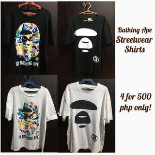 BAPE Streetwear Shirt 4 for 450 php only