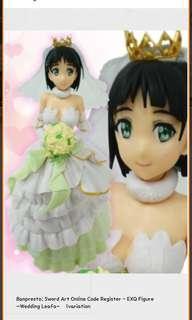 Sword Art Online Code Register Wedding Leafa Exq Figure