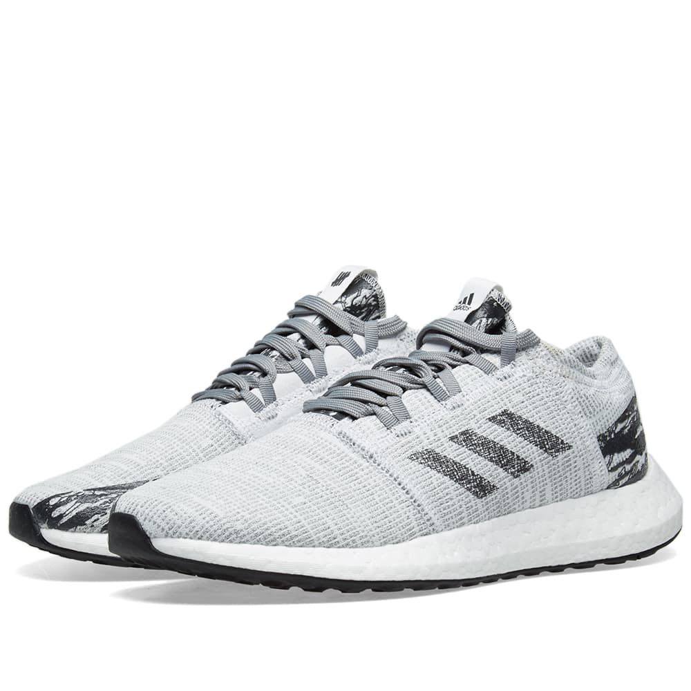 a0a58748fcfe08 Adidas X Undefeated PureBoost GO Grey Black