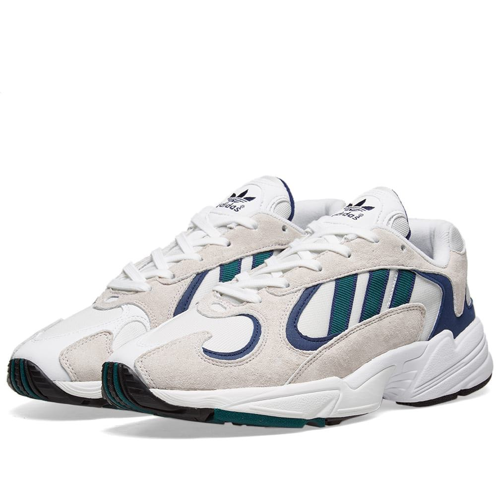 54c815c0acc Adidas Yung 1 White Green Blue