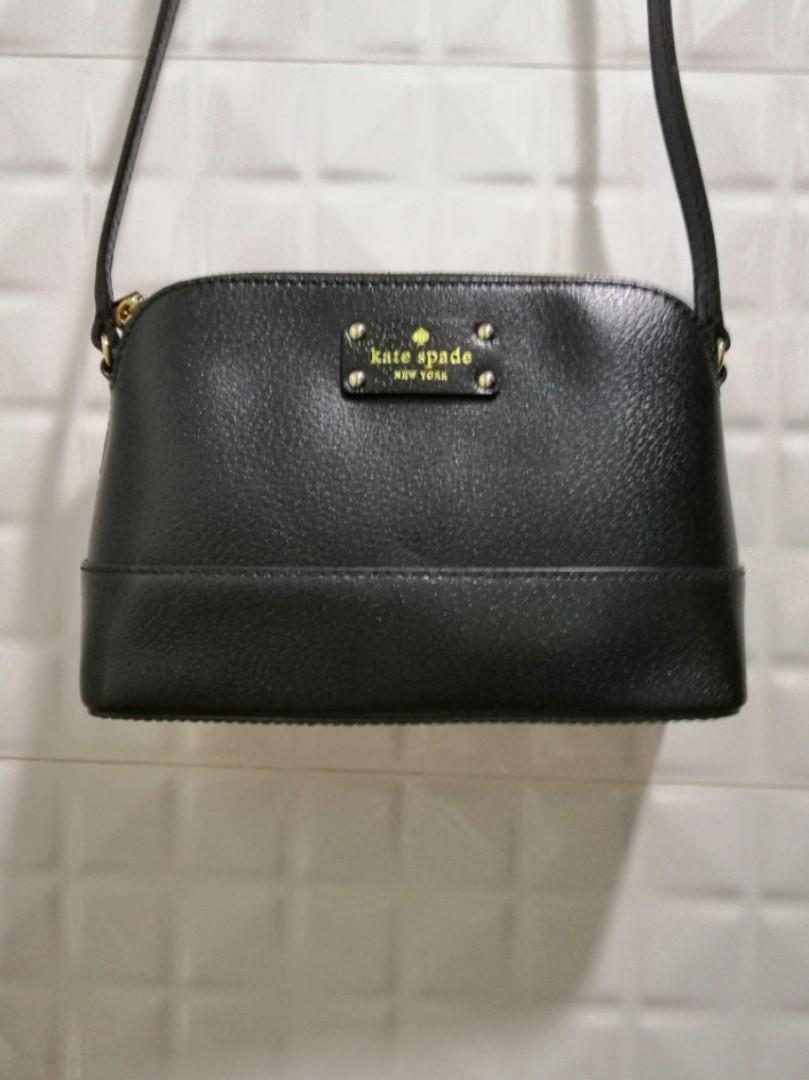 fe150d824273 authentic kate spade new york cross body sling bag ( black ...