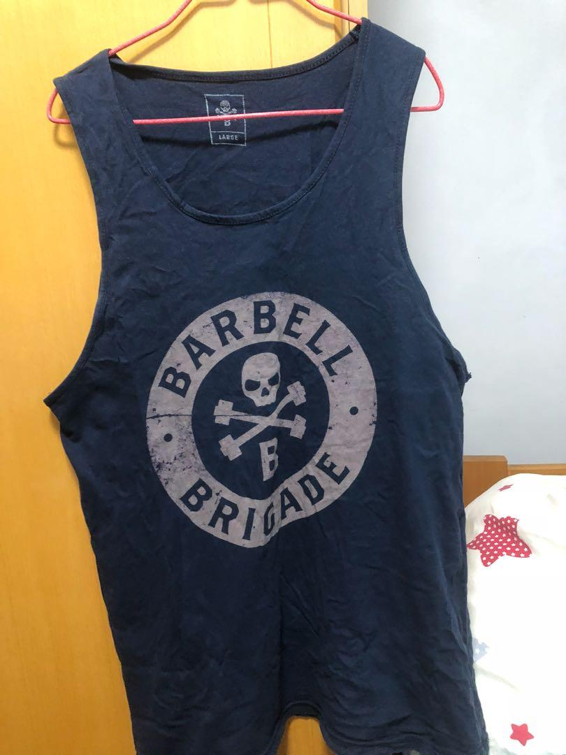 Barbell brigade tank top 50%new 健身背心 size L