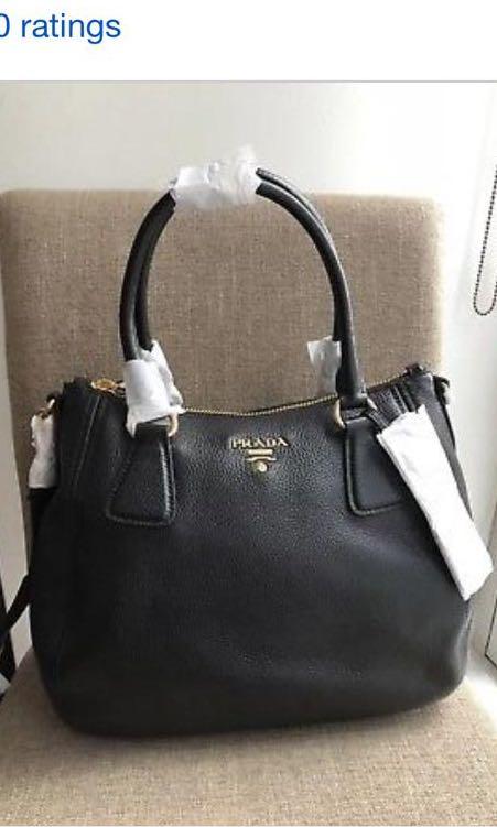bf8028cc9783 Brand new authentic Prada Vitello Phenix IBC032 Black Leather bag ...