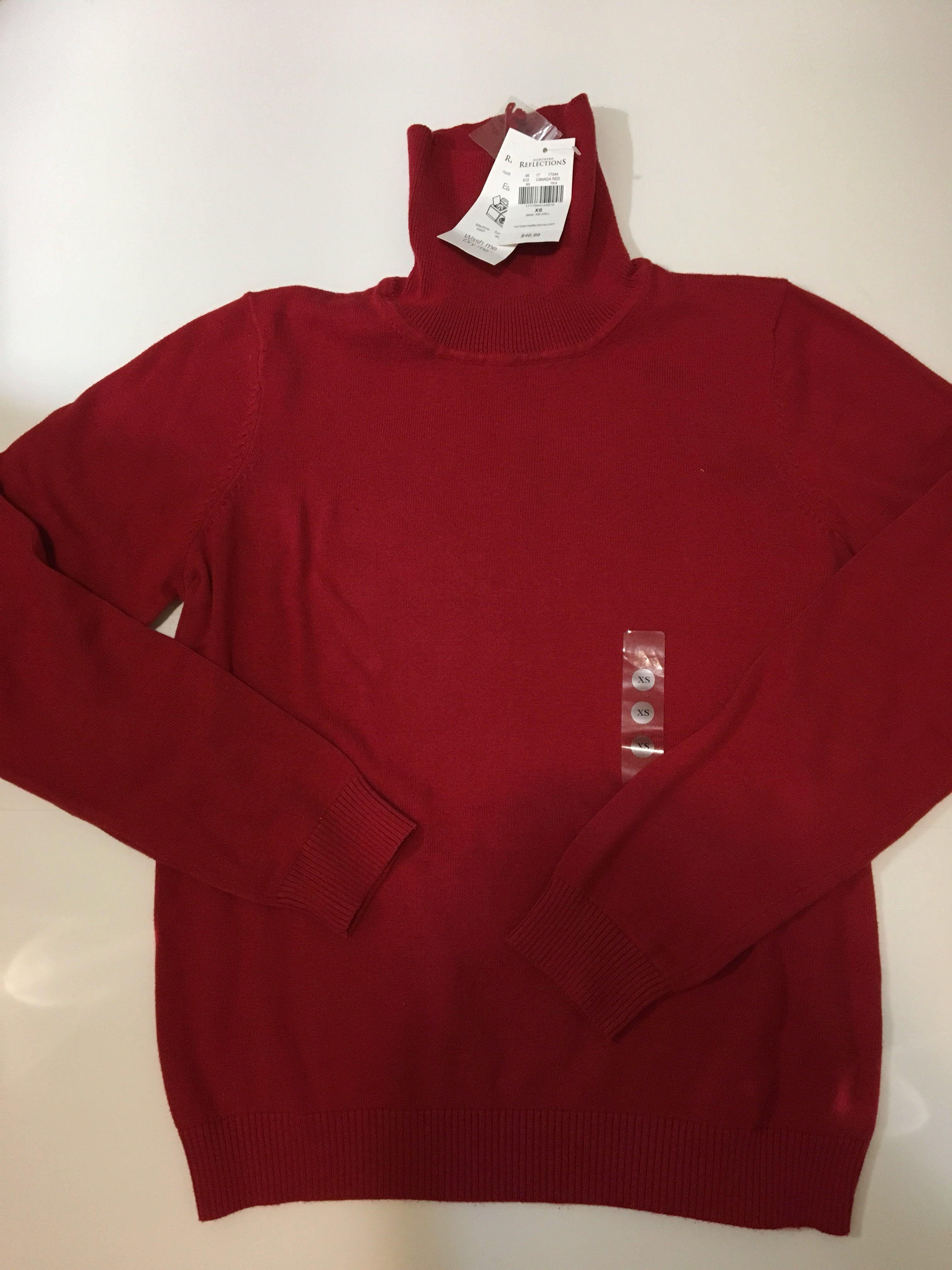 Brand new with tags Northern Reflection turtleneck red sweater