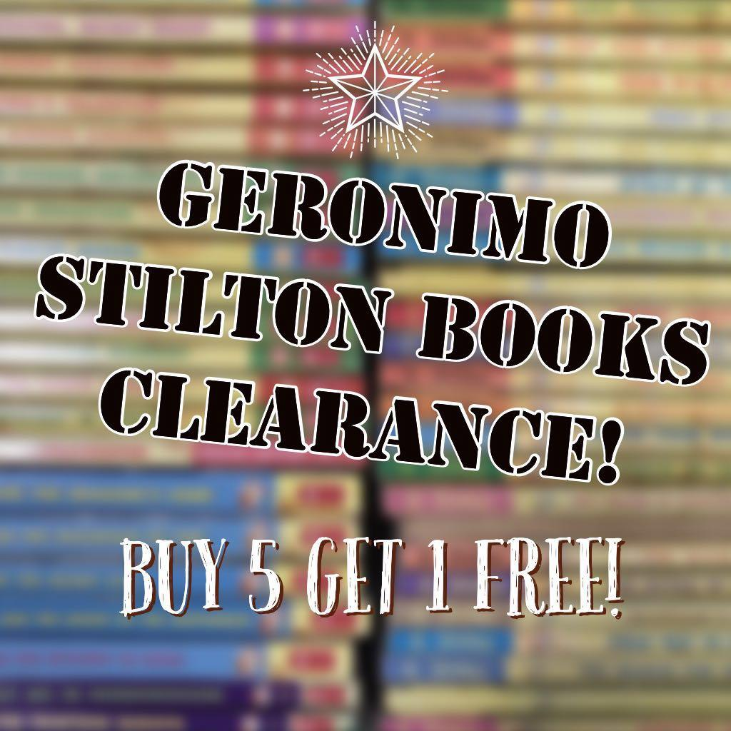 BUY 5, 1 FREE GERONIMO BOOKS 2018 CLEARANCE