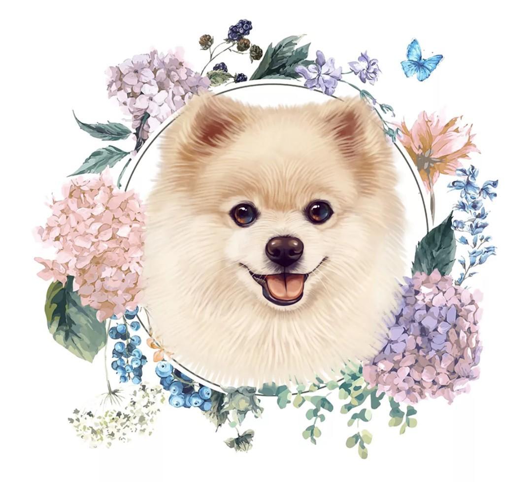 customized dog portrait