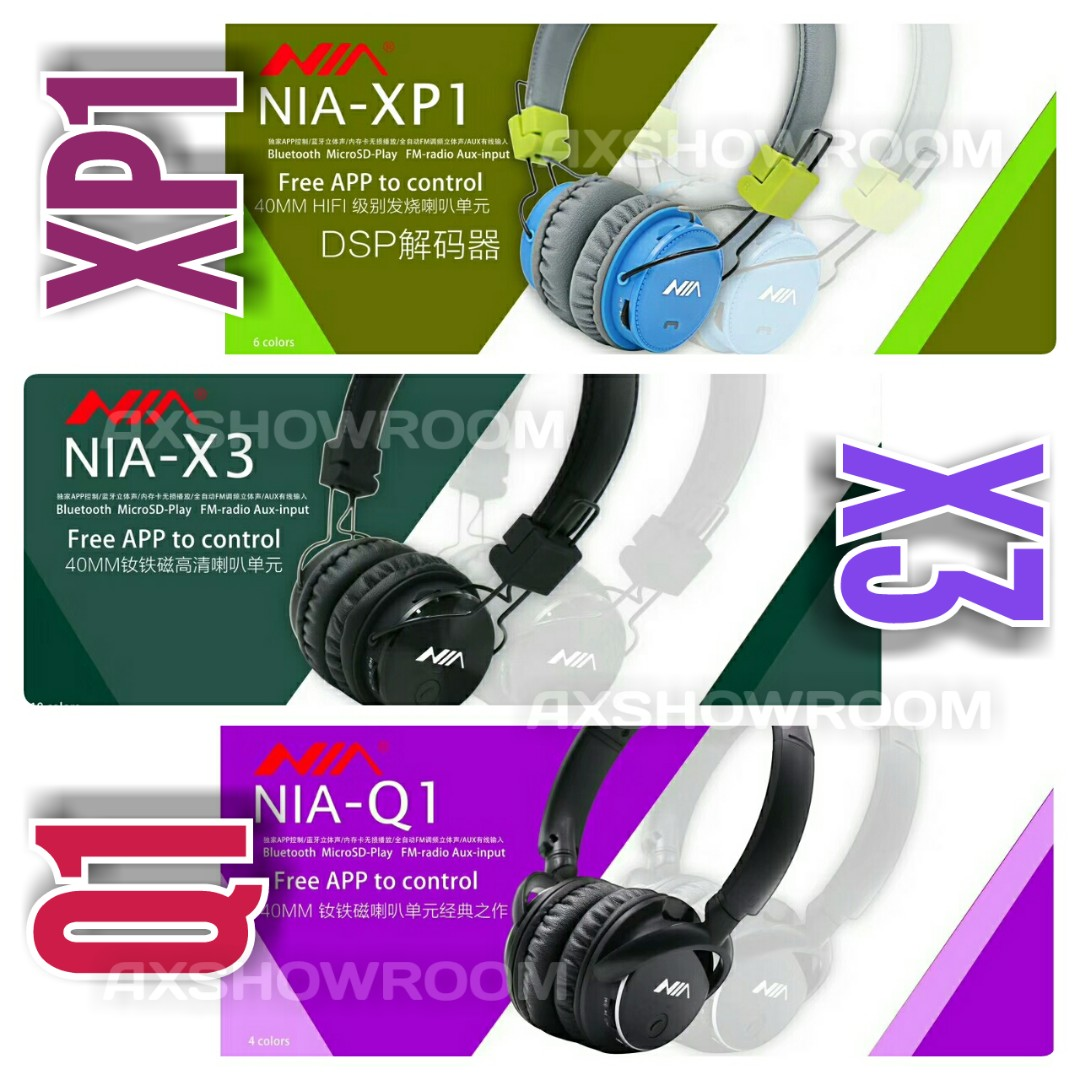 Extreme Bass Stereo NIA Headphone with Direct MicroSD Playback / Stereo FM