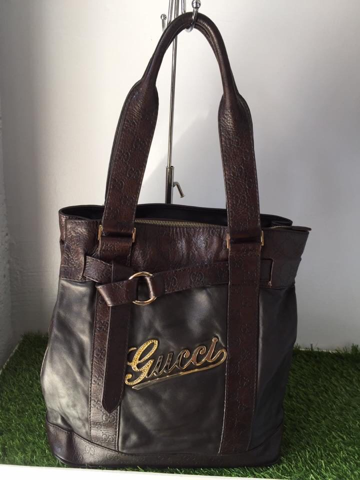 8a0314241a7 Gucci leather tote bag