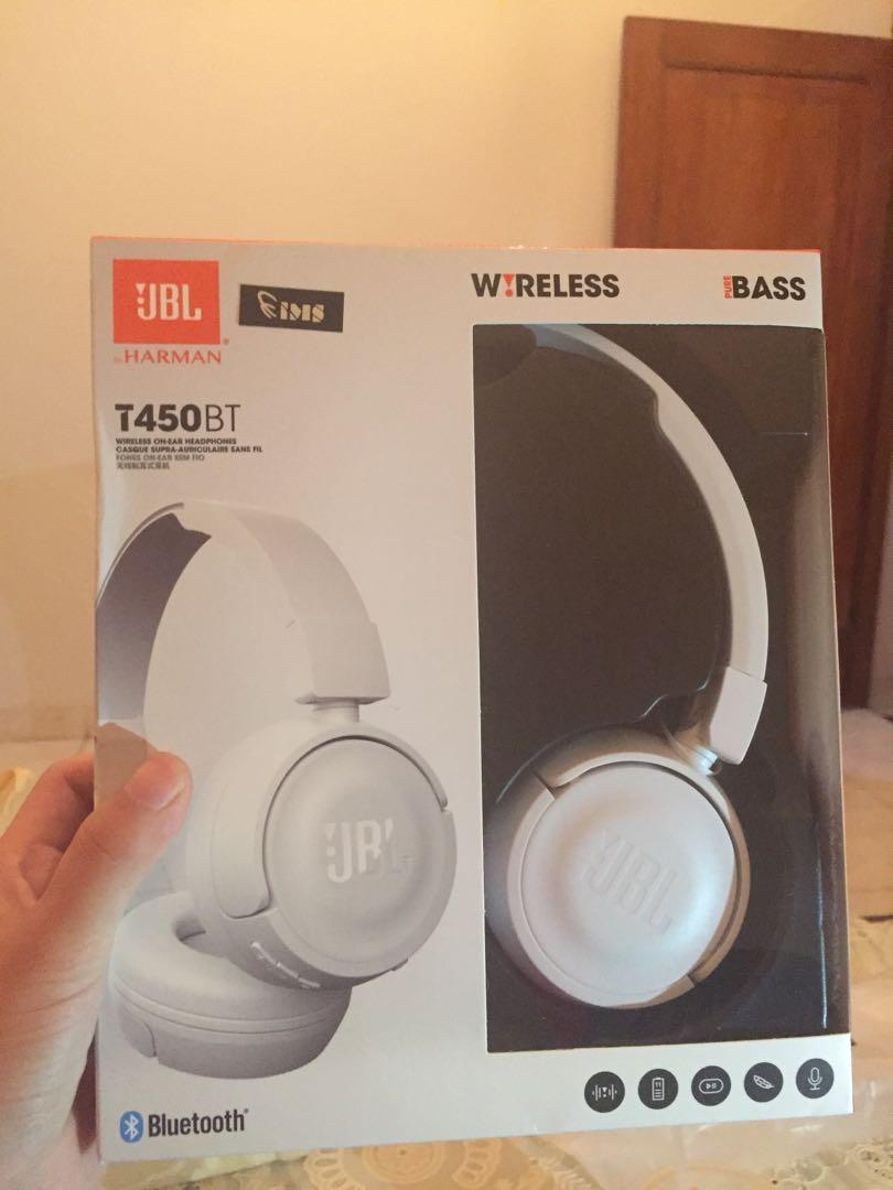Headphones JBL T450BT WHITE