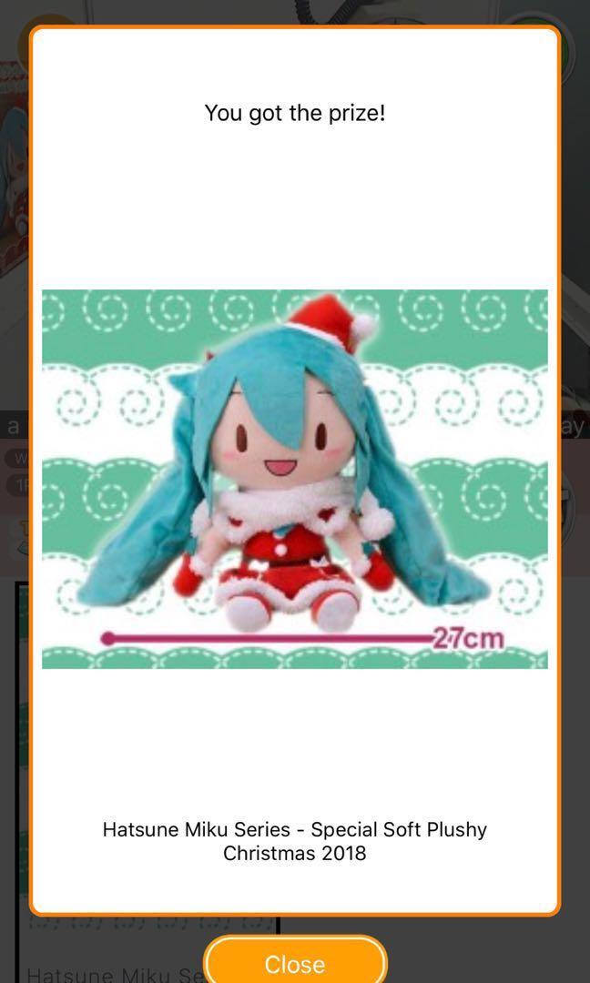 Hatsune Miku Christmas 2018.Instock Toreba Hatsune Miku Series Special Soft Plushy Christmas 2018