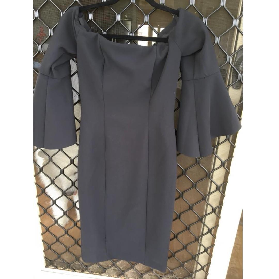 Kookai Florence black dress sz 38 ( havent worn but washed) (10)