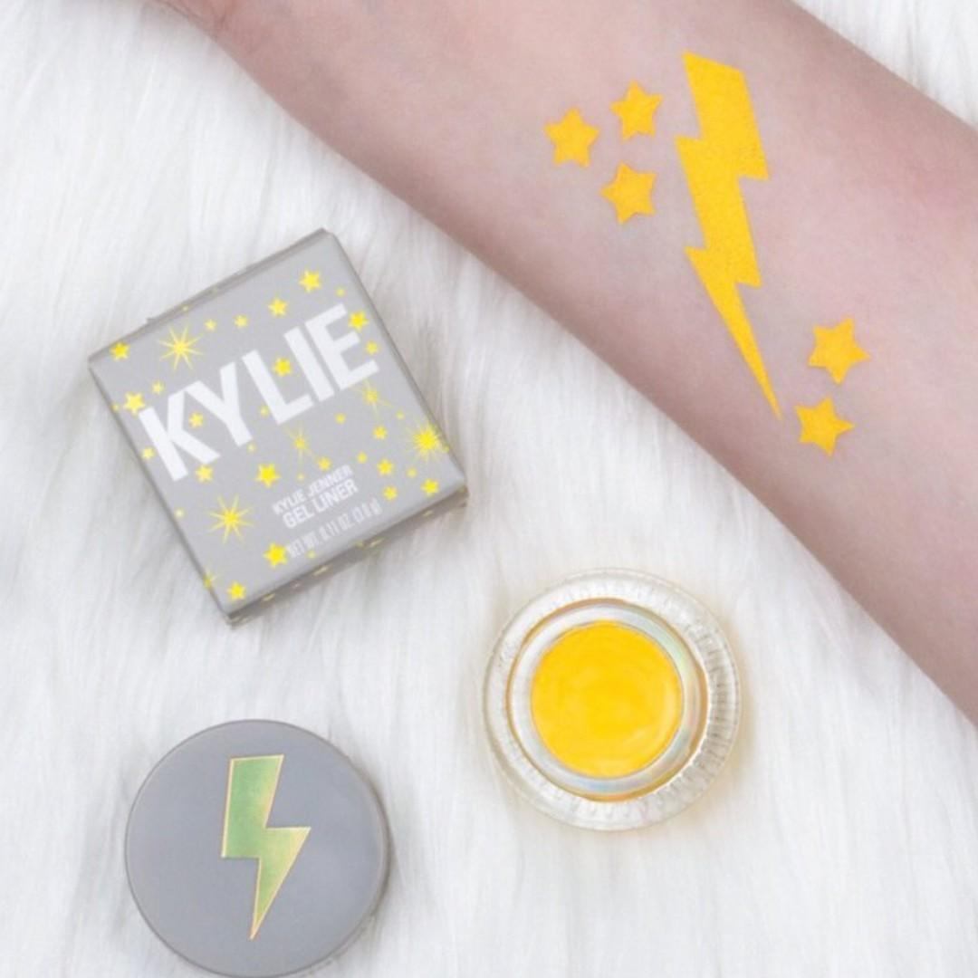 KYLIE COSMETICS YELLOW EYELINER POT WEATHER COLLECTION