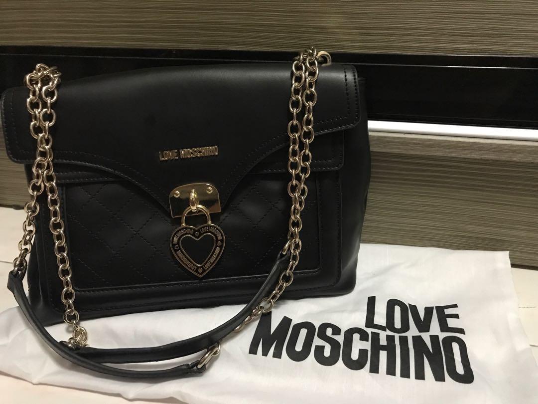 2280ecc7c2 Love Moschino 2-Way Bag in Black, Women's Fashion, Bags & Wallets ...