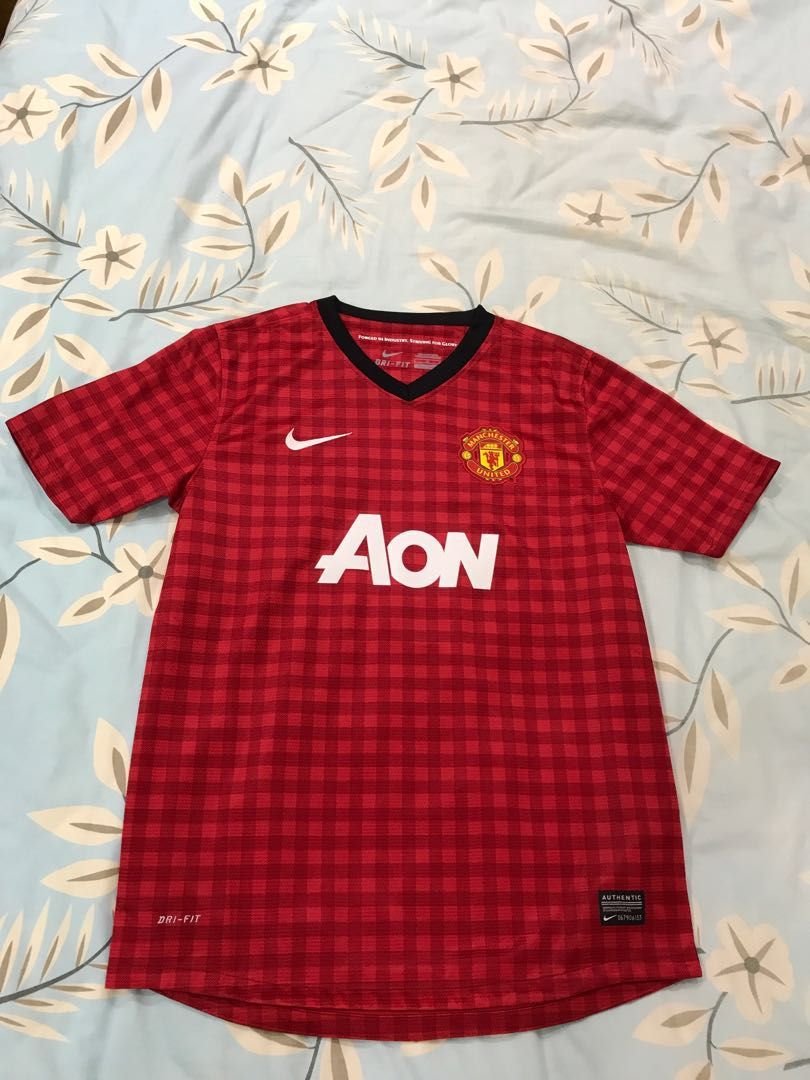 timeless design 8d11a 2eddb Manchester United Nike 12/13 Home Jersey (Youth Size)