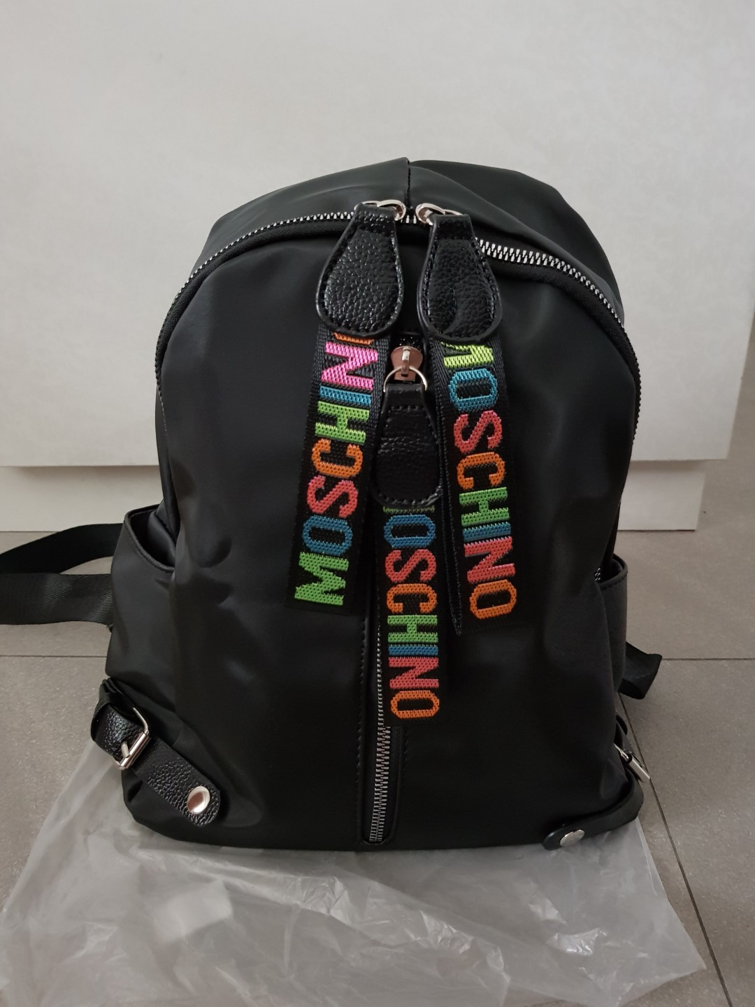 b8754b6682 MOSCHINO Backpack, Women's Fashion, Bags & Wallets, Backpacks on ...