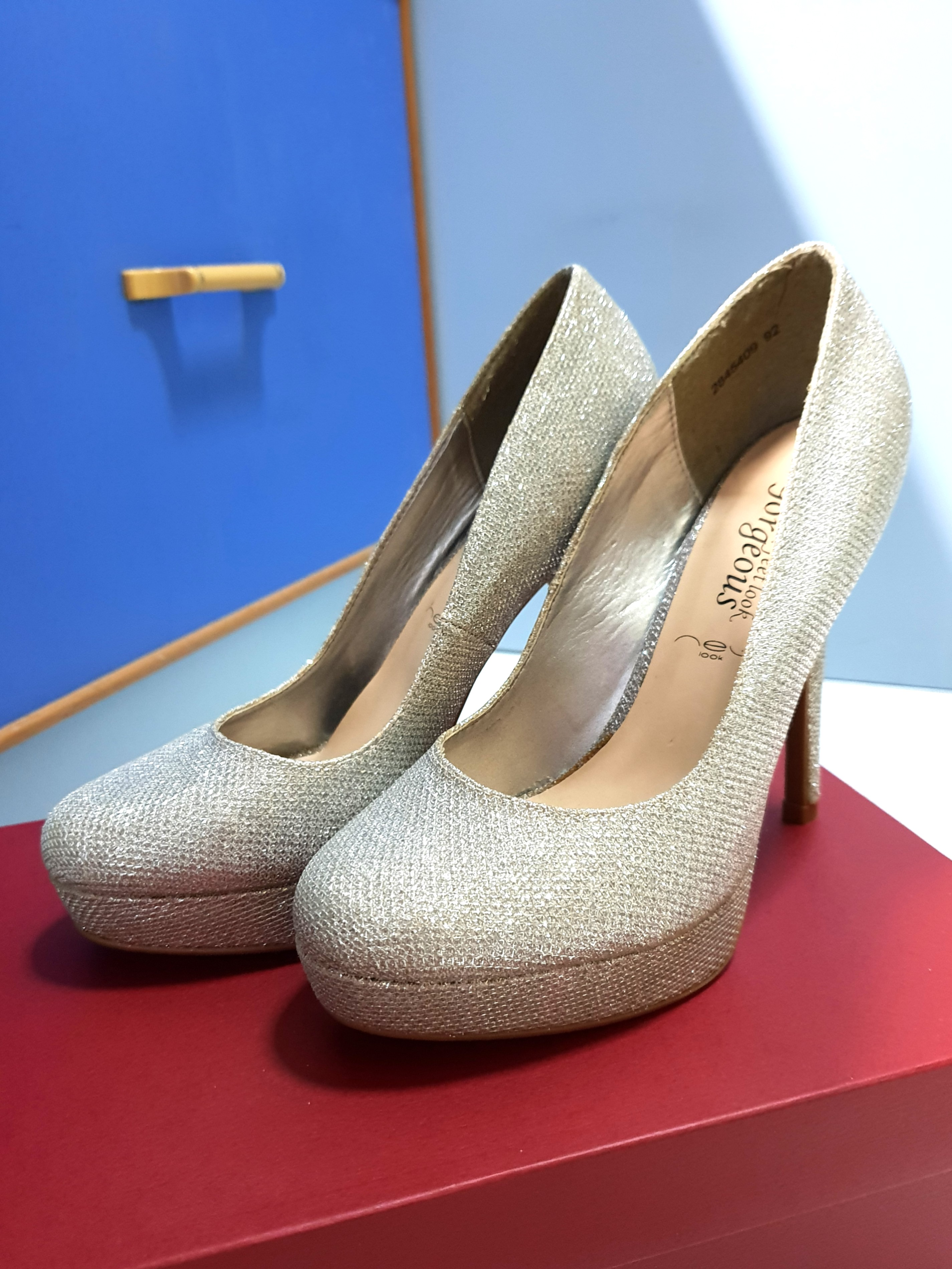 a27bcdb73 Neulook Silver Blink Heels, Women's Fashion, Shoes, Heels on Carousell