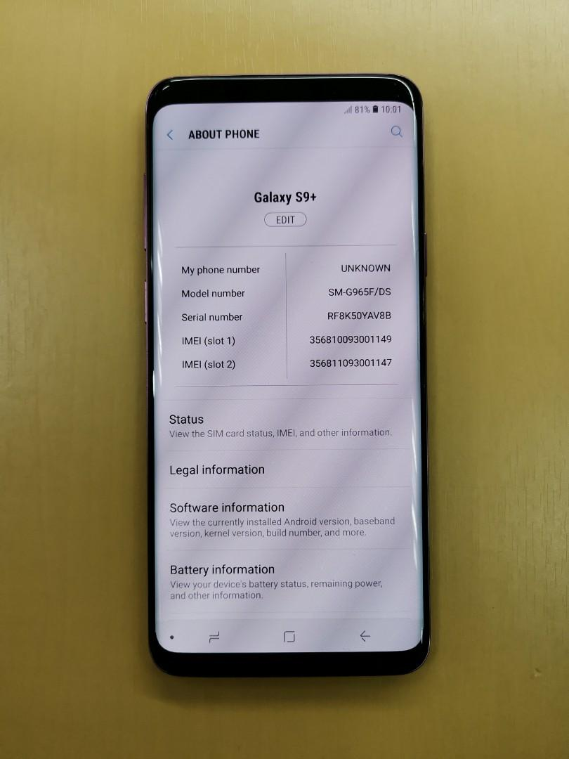 Only $695 Samsung Galaxy S9 Plus 128gb Lilac, Mobile Phones