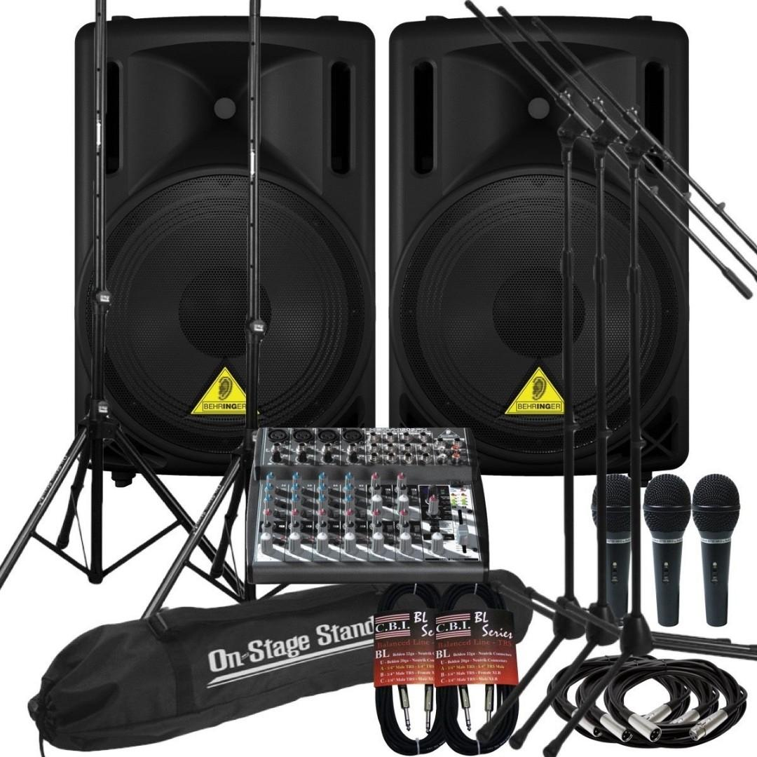 PA system rental for event, wedding and band