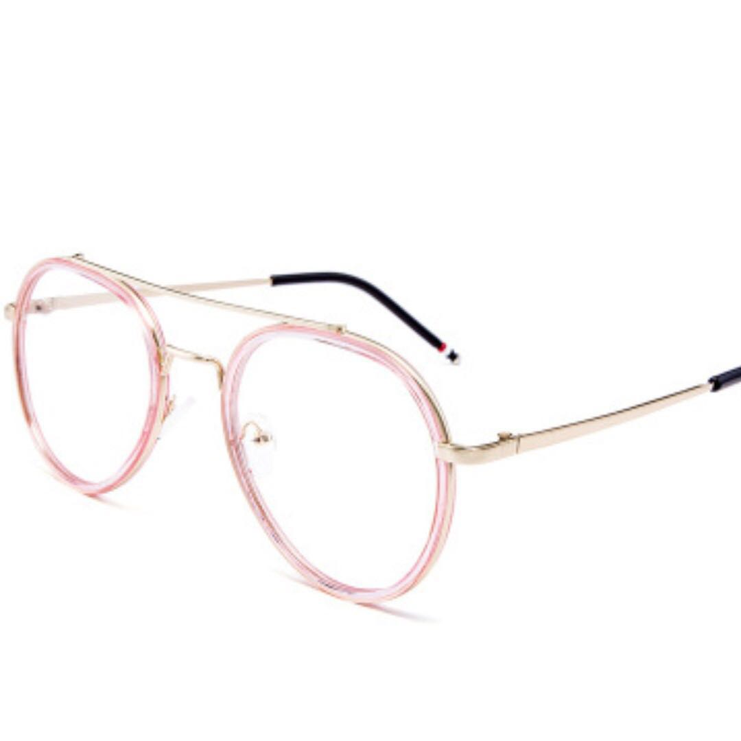 89904a99957 Pink border detail big metal frame spectacle womens fashion accessories eyewear  sunglasses on carousell jpg 1080x1080