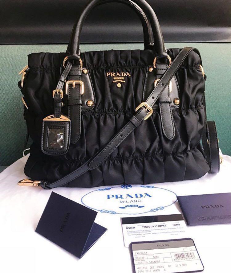 3b087dd3c62 Prada Nylon Gaufre in Black, Luxury, Bags   Wallets on Carousell