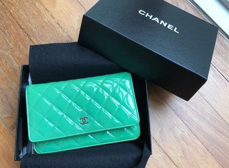 7fb0dbccf8ba PRELOVED] CHANEL Patent Wallet on Chain, Luxury, Bags & Wallets ...