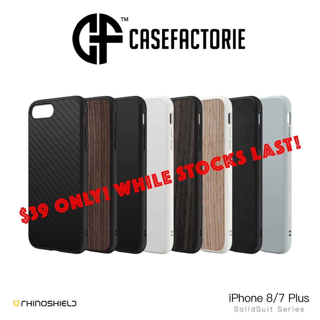 finest selection 4c60f 5b7c2 RhinoShield SolidSuit Case for iPhone 8/7 Plus