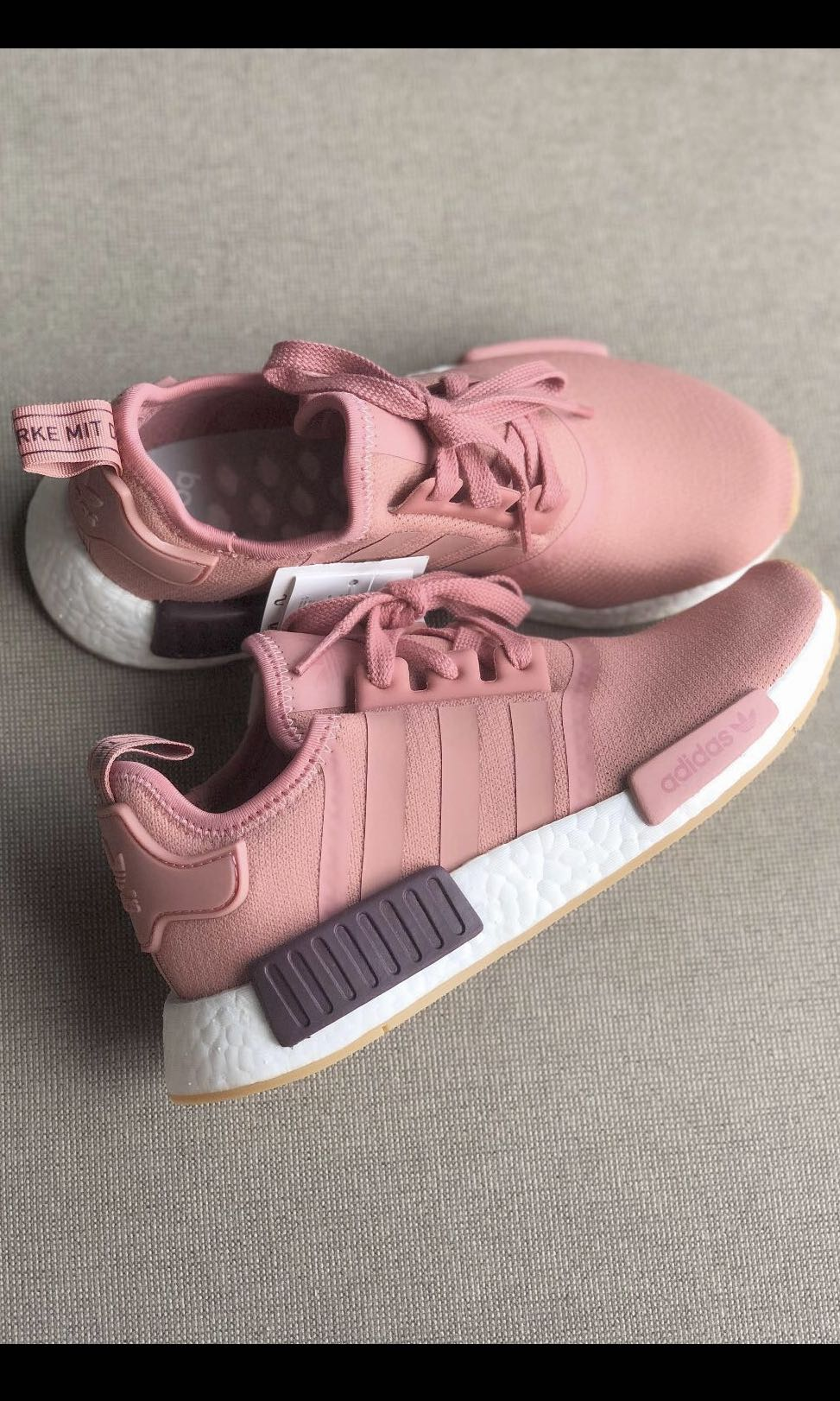 Official retail NEW WOMENS ADIDAS NMD R1 RUNNER RAW PINK