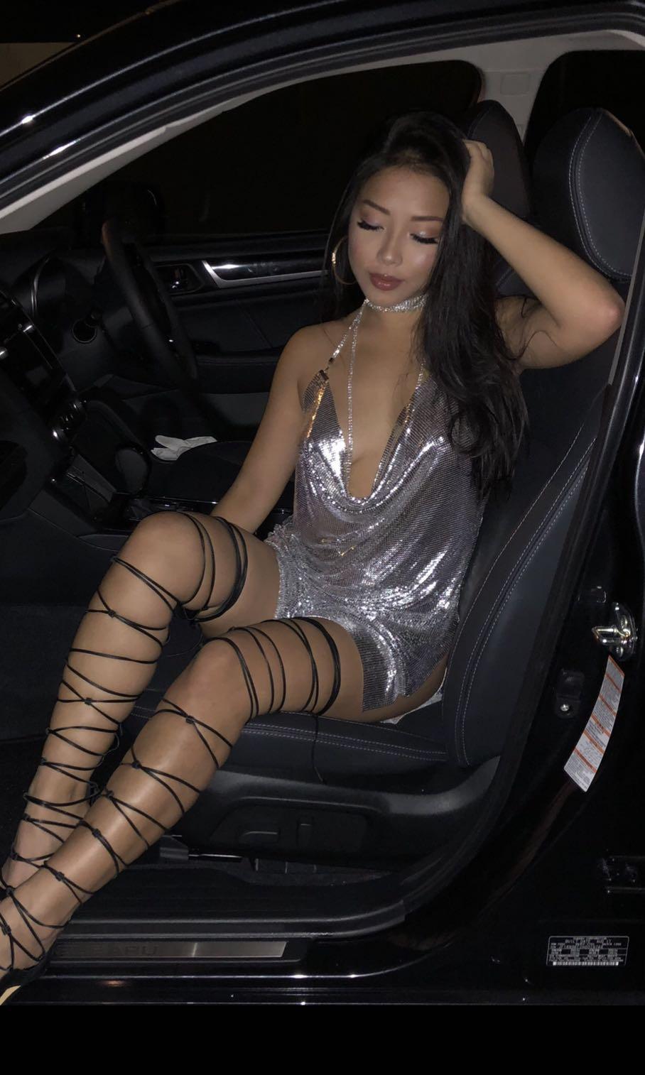 Silver metal dress