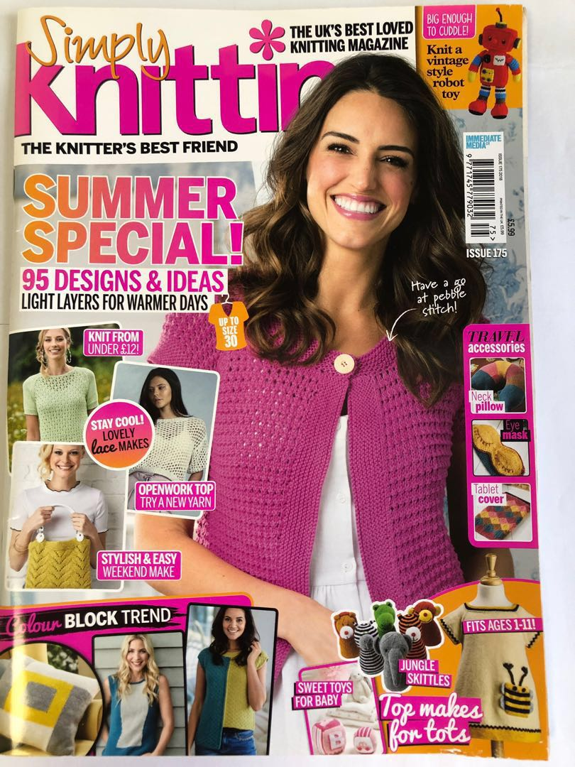 Simply Knitting Magazine With Bookmark Kit Books Stationery