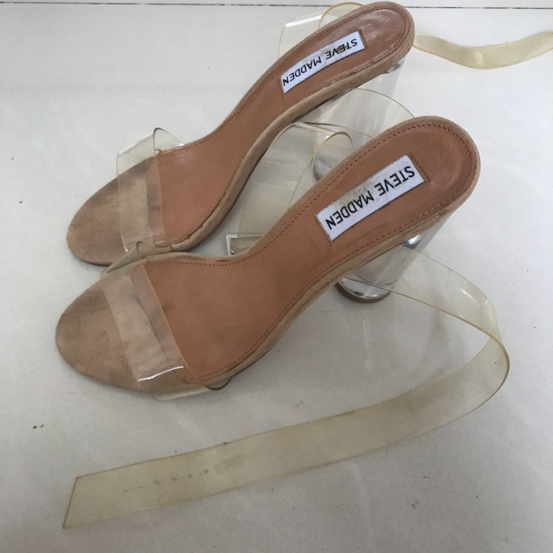 14aa5155828 Steve madden clear heels (FREE CLEANING)