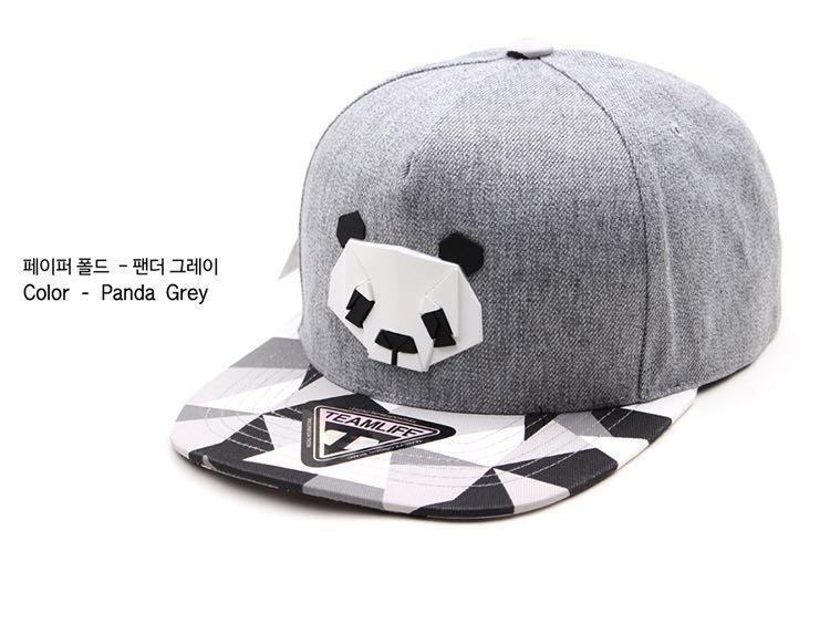 TEAMLIFE Korean Panda Baseball Cap Snapback Hats 26dbd41c089