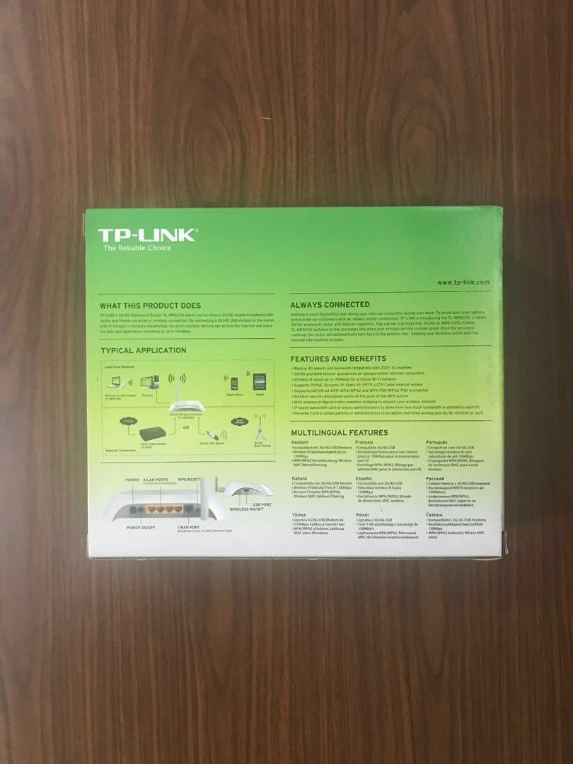 TP-Link Router TL-MR3220