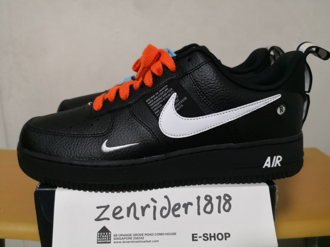 a076a68339be UK10 US11 Nike Air Force 1 Utility Black Low + 2xlaces - authentic ...