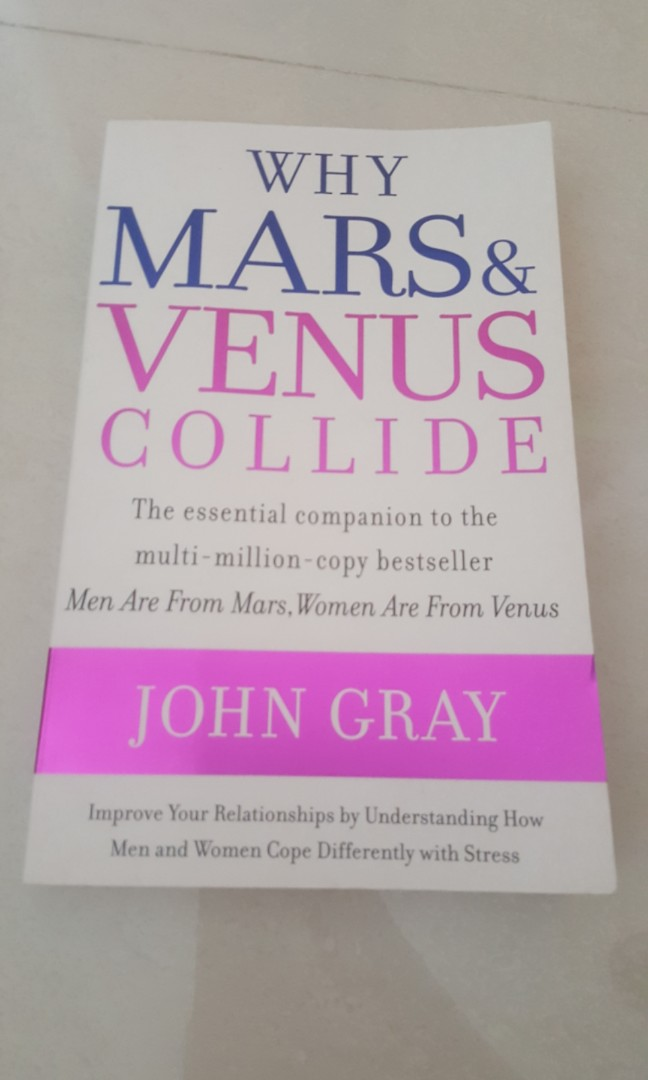 Why Mars Venus Collide By John Gray Books Stationery Fiction