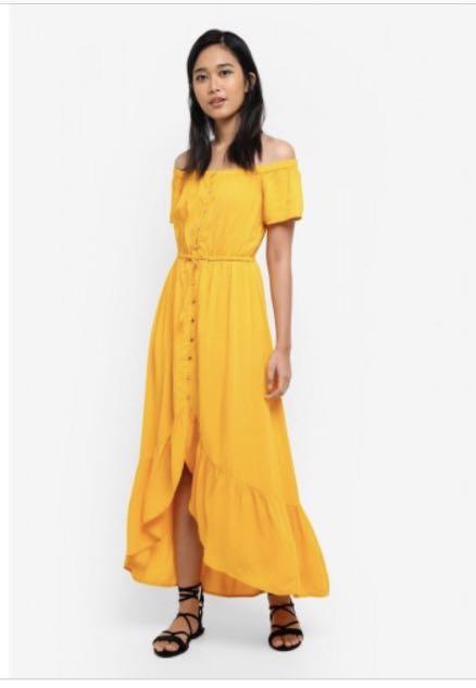 59e4d31b0e70 yellow off shoulder dress