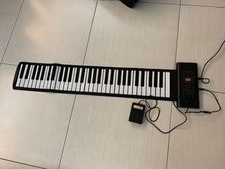 可捲電子琴