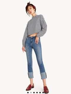 Pomelo Emory Cropped Skinny Jeans