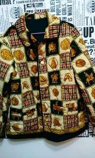 🚚 日本製 古著 復古雙面穿初秋薄舖棉外套